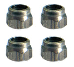 Teak Fingerboard Lock Nuts [4-pack] - Stainless Steel - LocoSonix