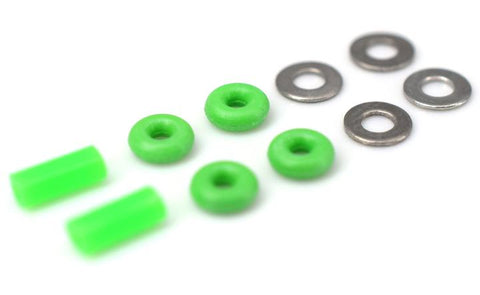 Teak Fingerboard Tuning O-Ring Kit - Green - LocoSonix