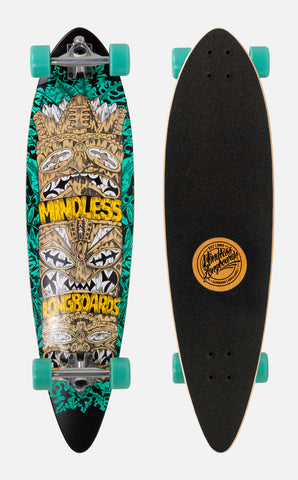 "Mindless 38"" Tribal Rogue IV Longboard Complete - Green - LocoSonix"