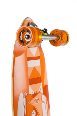 "Stella 38"" Volkswagon Kicktail Longboard Complete - Orange - LocoSonix"