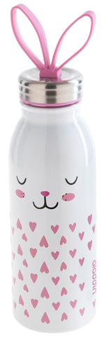 Aladdin Zoo Water Bottle 0.43L Stainless Steel Vacuum - Bunny