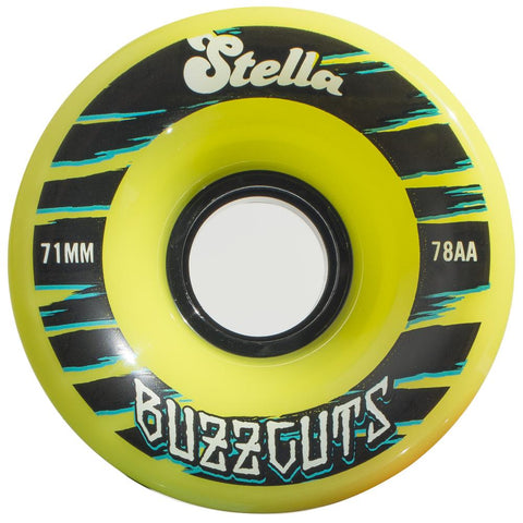 Stella Buzzcuts 71MM 78A Wheels - Lime Green [set of 4] - LocoSonix