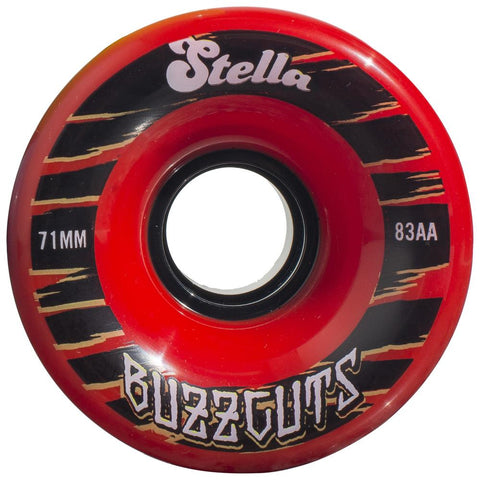 Stella Buzzcuts 71MM 83A Wheels - Ruby Red [set of 4]