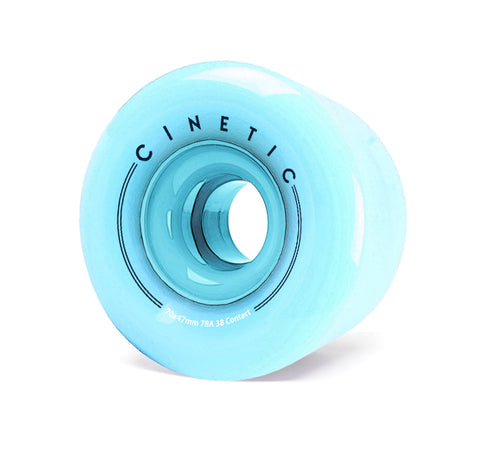 Cinetic Fractal 70MM 78A Wheels - Teal [pack of 4] - LocoSonix