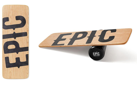 Epic WOOD BALTICA Balance Board with Roller