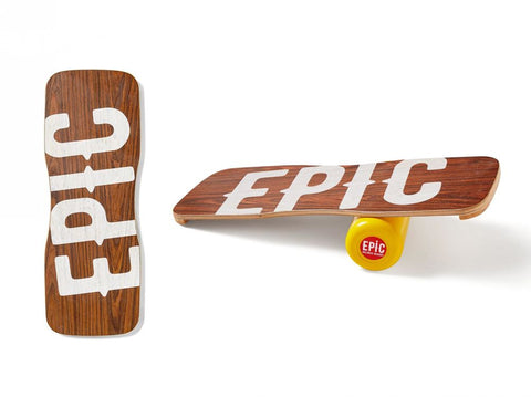 Epic WOOD BLOW Balance Board with Roller [stoppers]