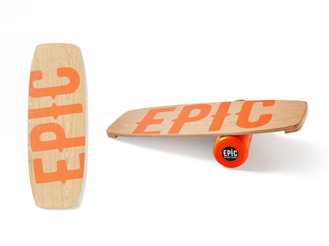 Epic WOOD JUICY Balance Board with Roller [stoppers]