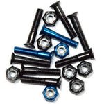 "Steadfast Phillips Head 1"" Colored Hardware - (6 black, 2 blue) [8 bolts/nuts]"