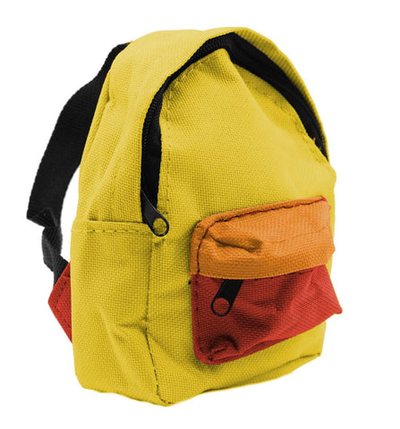 Teak Fingerboard Backpack Case - YELLOW
