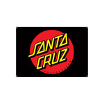 Santa Cruz DOT Flag - Black 32x46""
