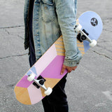 "Yocaher 7.75"" Geometric Series - Purple Skateboard Complete"