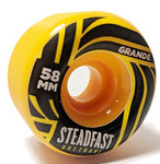Steadfast Grande 58mm 100A Wheels - Orange [set of 4]