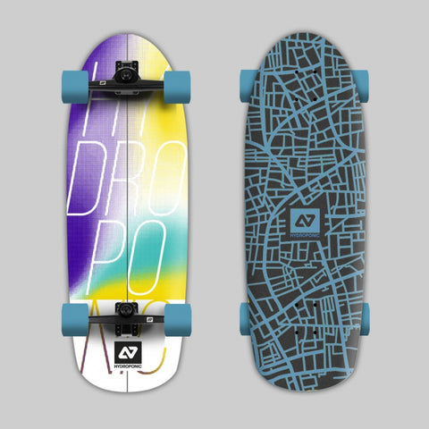 "HY 30"" Fine Surfskate - Purple Yellow - LocoSonix"