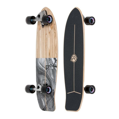 "Flow swell 33"" Surfskate Longboard Complete"