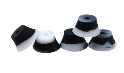 Teak Fingerboard Bubble Bushings - Black/White Swirl - LocoSonix