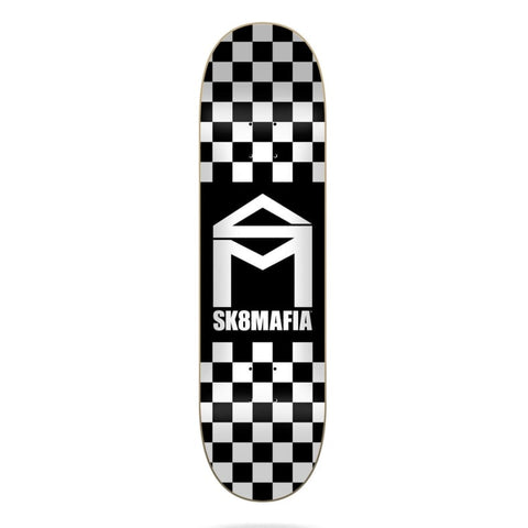 "Sk8Mafia Sk8 Deck HOUSE LOGO CHECKER 8.00"" BLACK"