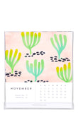 Watercolor 2015 Desktop Calendar - LEIF
