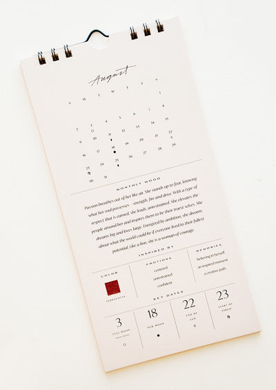 2020 Intentions Wall Calendar hover