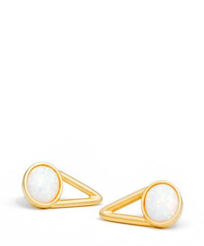 The Wall Opal Stud Earrings