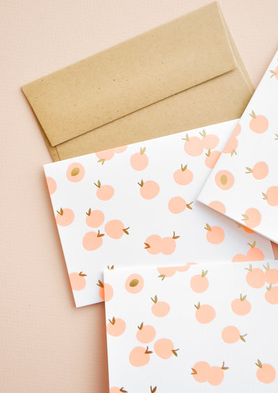 Peachy Letterpress Card Set in  - LEIF