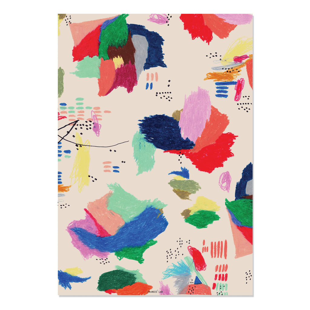 Oil Pastel Wrapping Paper - LEIF