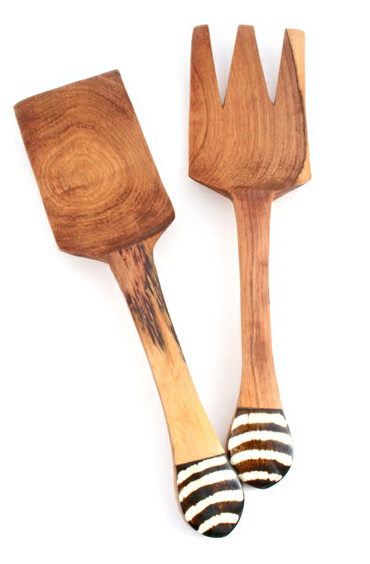 Batik Fork & Spatula Serving Set - LEIF