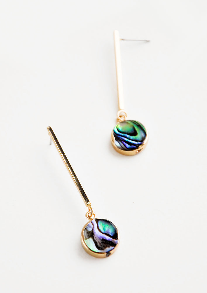 1: Abalone Drop Earrings in  - LEIF