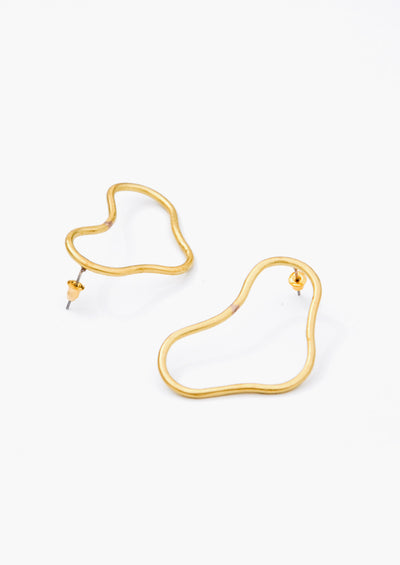 Abstract Squiggle Earrings