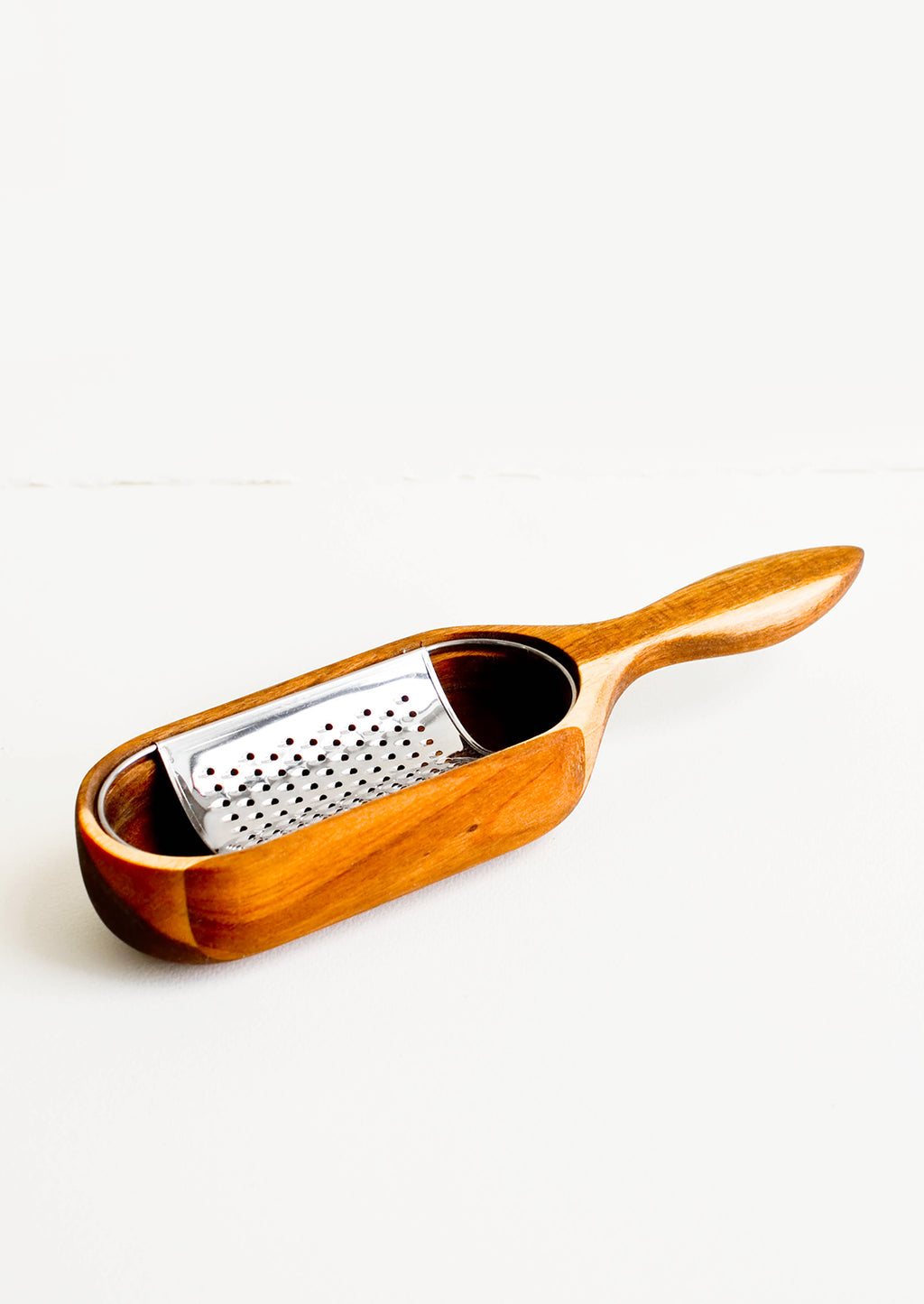 1: Acacia Wood & Metal Cheese Grater - LEIF
