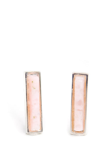 Adele Bar Studs in Pink Opal - LEIF
