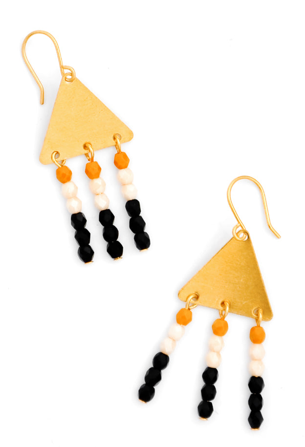 Adorned Triangle Earrings - LEIF