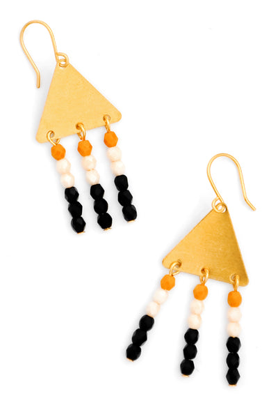 Adorned Triangle Earrings