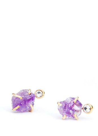 Amethyst & White Sapphire Earrings - LEIF
