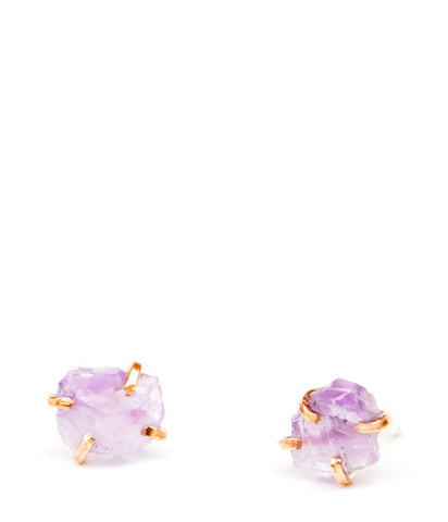 Amethyst Claw Stud Earrings - LEIF