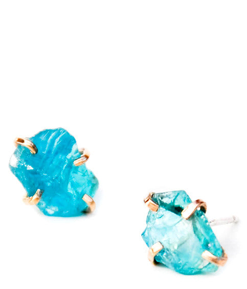 Apatite Claw Stud Earrings - LEIF