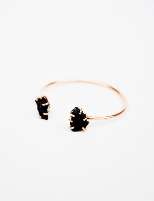 Black Tourmaline Double Cuff - LEIF