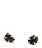 Black Tourmaline Claw Stud Earrings - LEIF