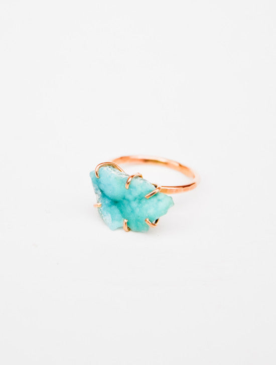 Hemimorphite Claw Ring - LEIF