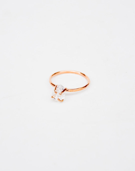 Herkimer Diamond Claw Ring - LEIF