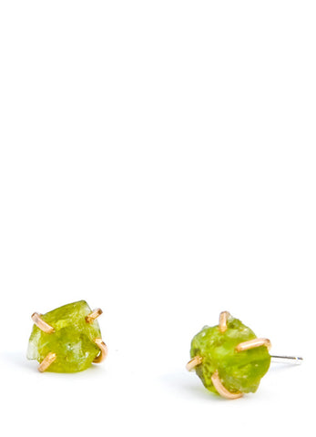 Peridot Claw Stud Earrings - LEIF