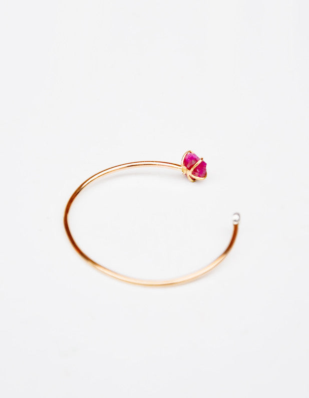Pink Spinel & White Sapphire Cuff - LEIF