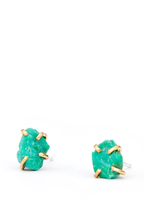 Turquoise Claw Stud Earrings - LEIF