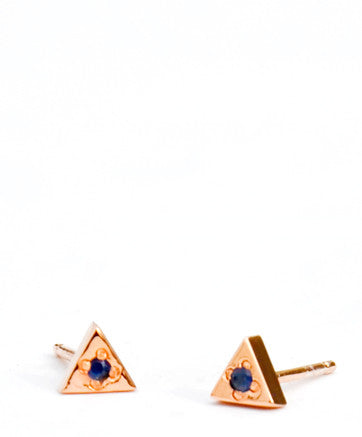 Sapphire Pyramid Stud Earrings - LEIF