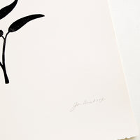 2: Artist's signature on handprinted artwork