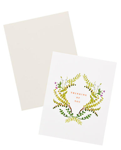 Thinking Of You Ferns Card