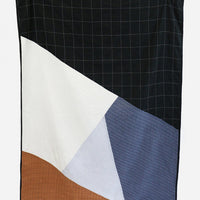 Ochre / Blue / Black: Osaka Stitch Quilt in Ochre / Blue / Black - LEIF