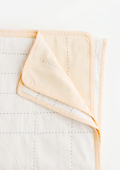 Organic Cotton Grid Stitch Quilt