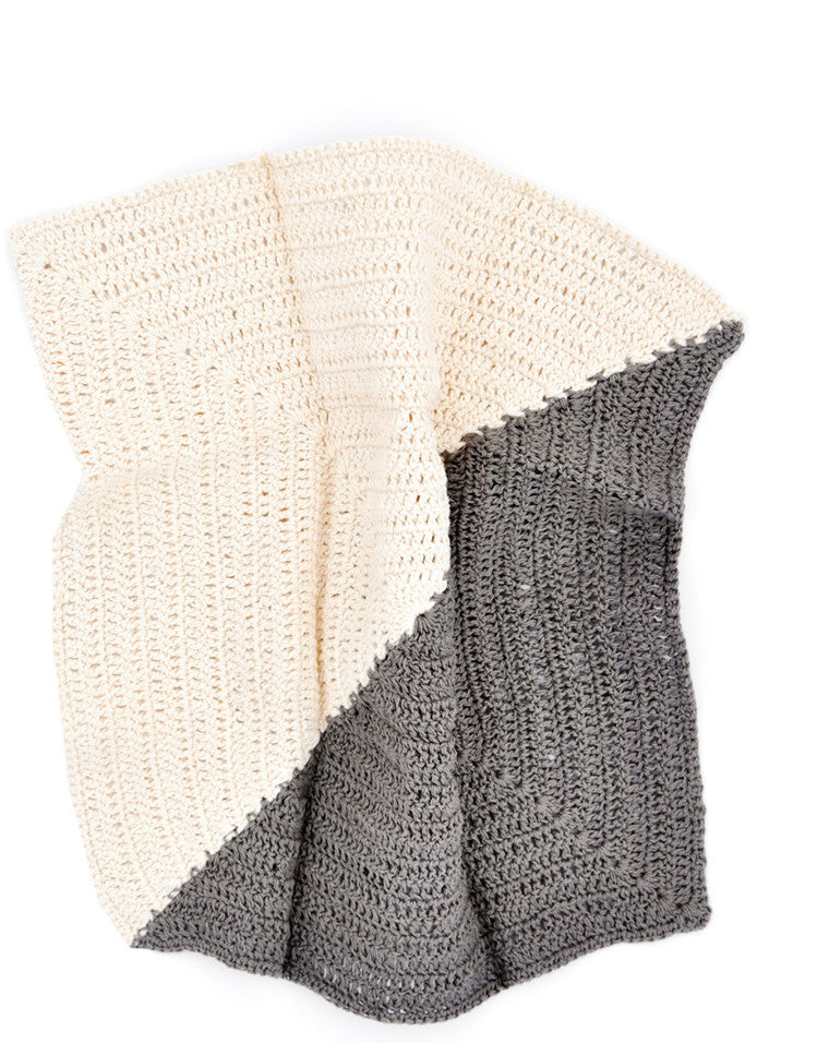 Angle Crochet Dish Towel Set in Charcoal / Natural - LEIF