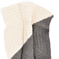 Charcoal / Natural: Angle Crochet Dish Towel Set in Charcoal / Natural - LEIF