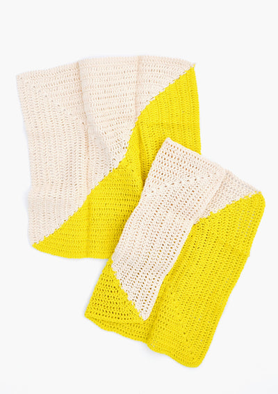 Angle Crochet Dish Towel Set
